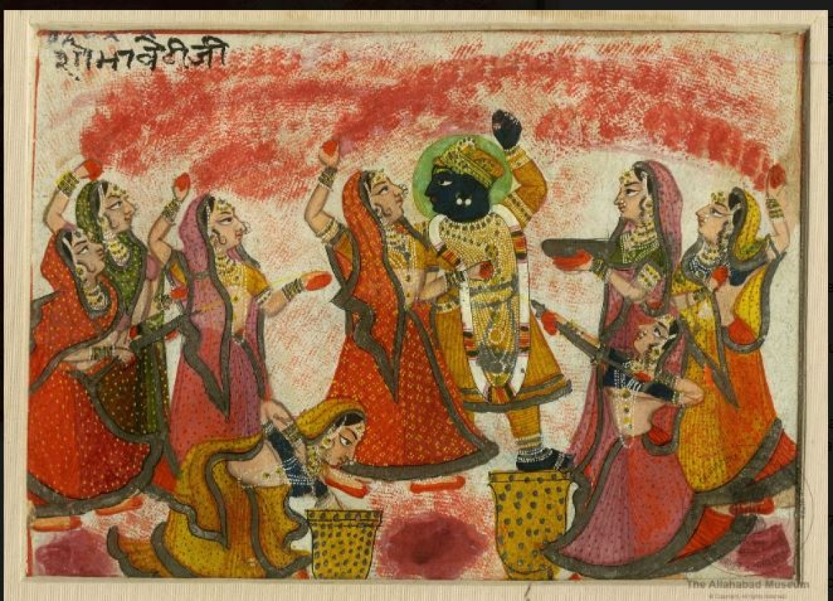 Radha and Krishna celebrating Holi, Nathdwara, 18th-19th century