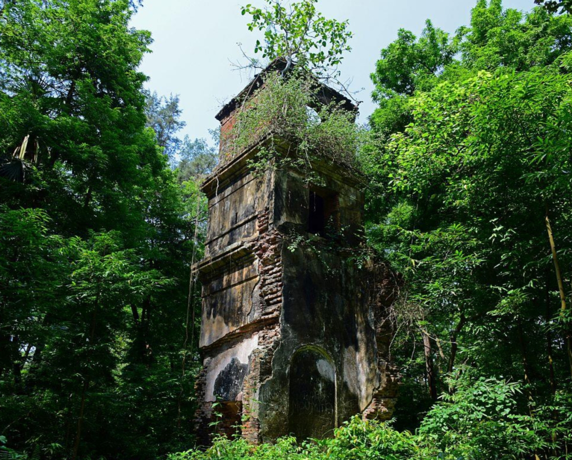 Ruins of First Telegraph office at Khejuri