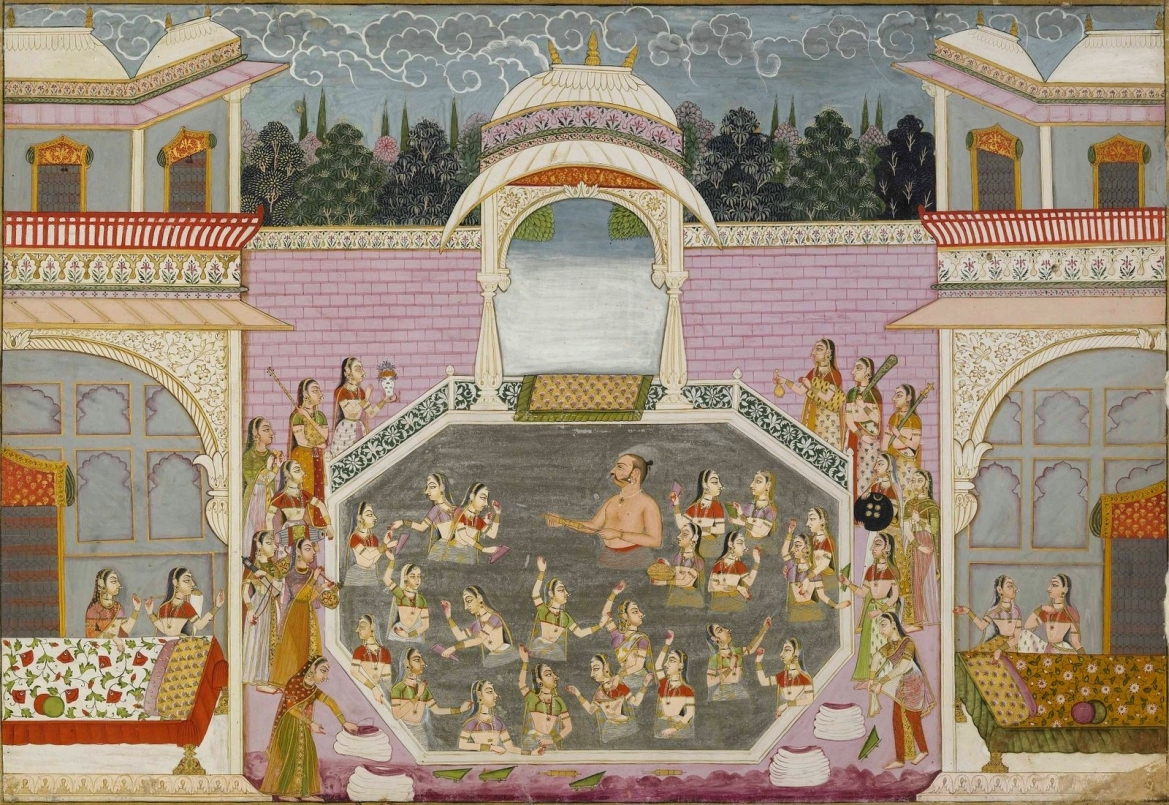 Maharaja Bakhat Singh rejoices during Holi, Nagaur, c. 1748–50