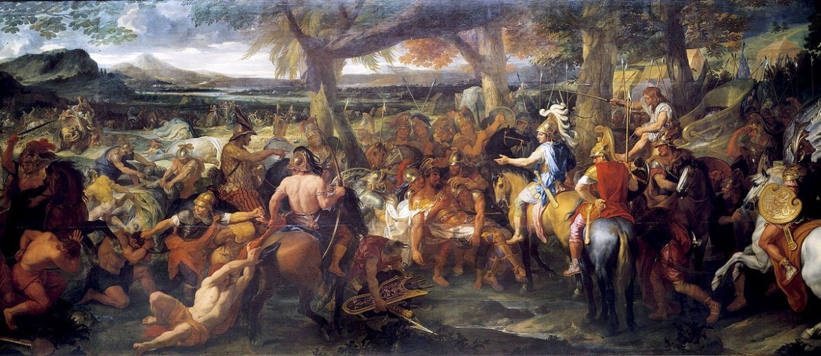 Alexander and Porus by Charles Le Brun, painted 1673