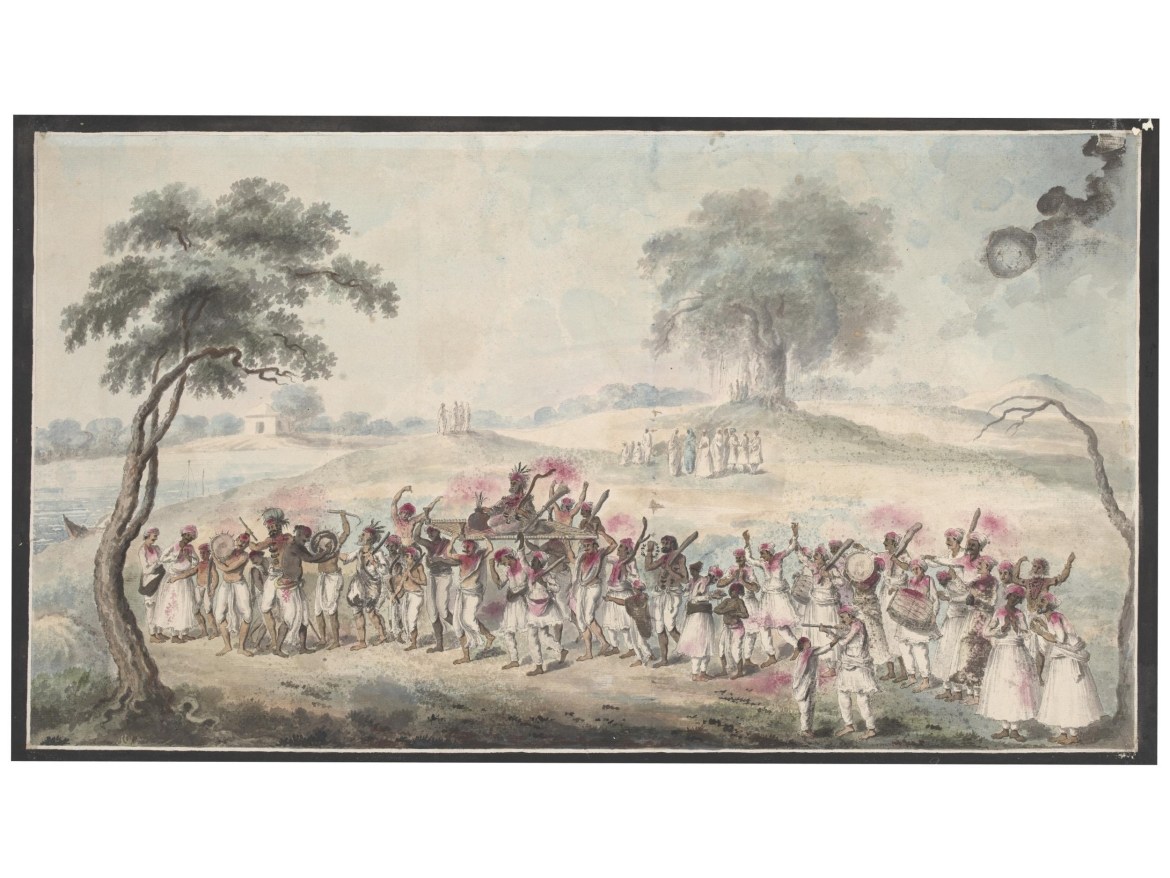 Holi Celebration,Calcutta or Murshiddabad, 1795-1805