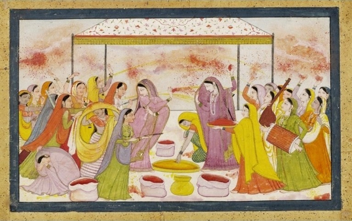 Radha celebrating Holi, c. 1788, Kangra