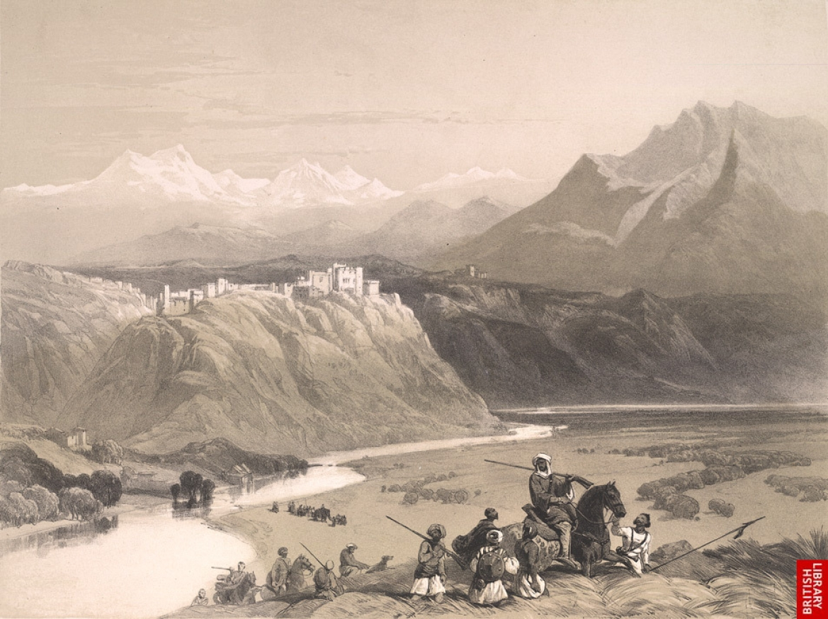 Sketch of Mubarak Mandi along the Tawi River