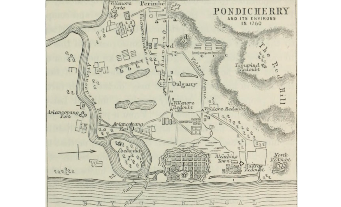 Pondicherry and its Environs in 1760