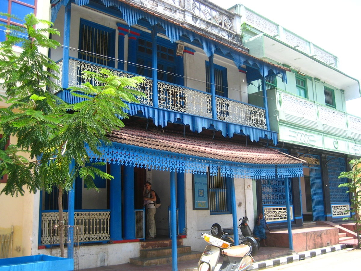 Traditional Tamil house in Pondicherry