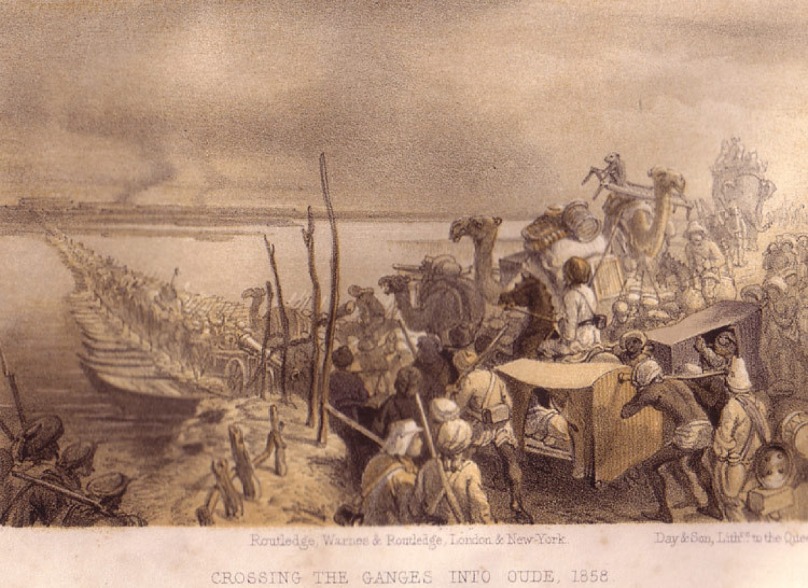 Crossing the Ganges into Awadh, by Willian Howard Russell