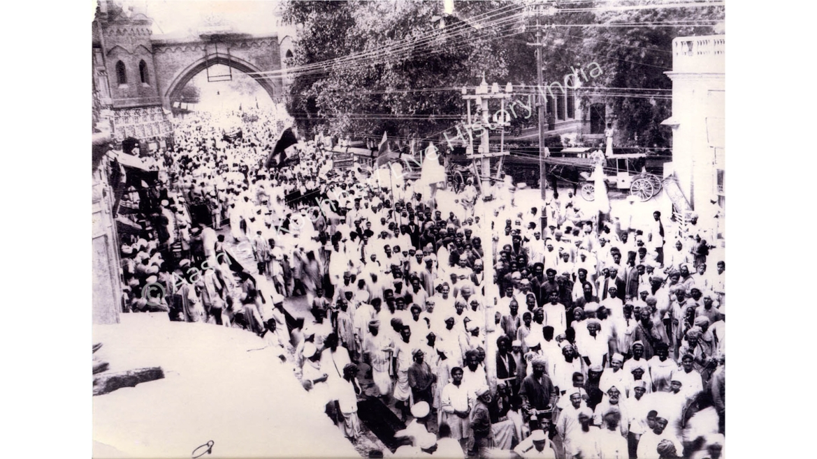 Ram Navmi procession passing through Hall Bazaar