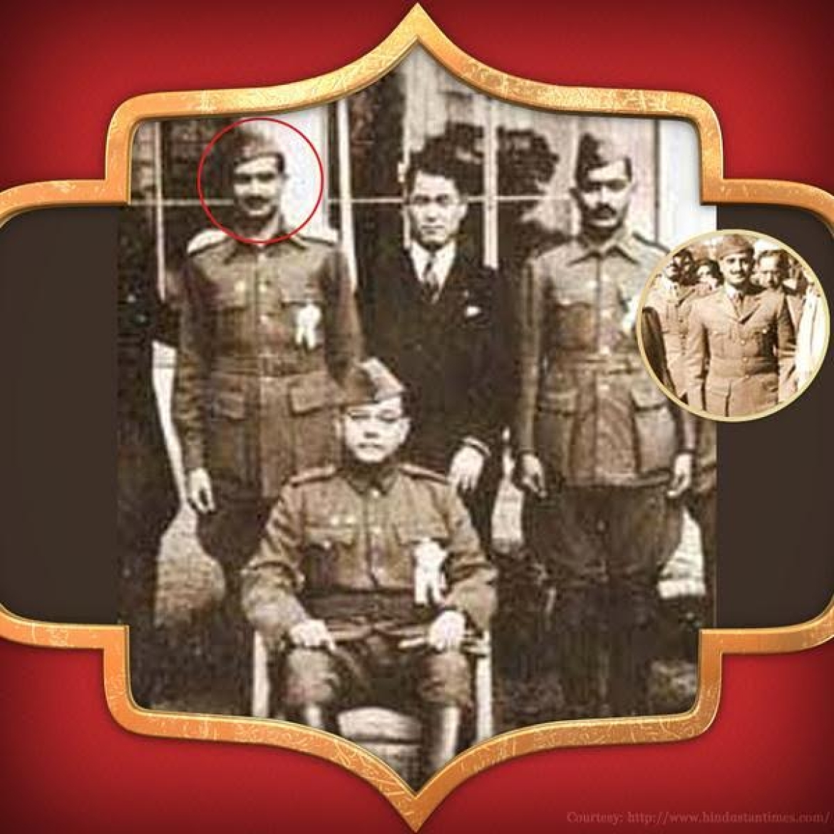 General Shahnawaz Khan with Bose