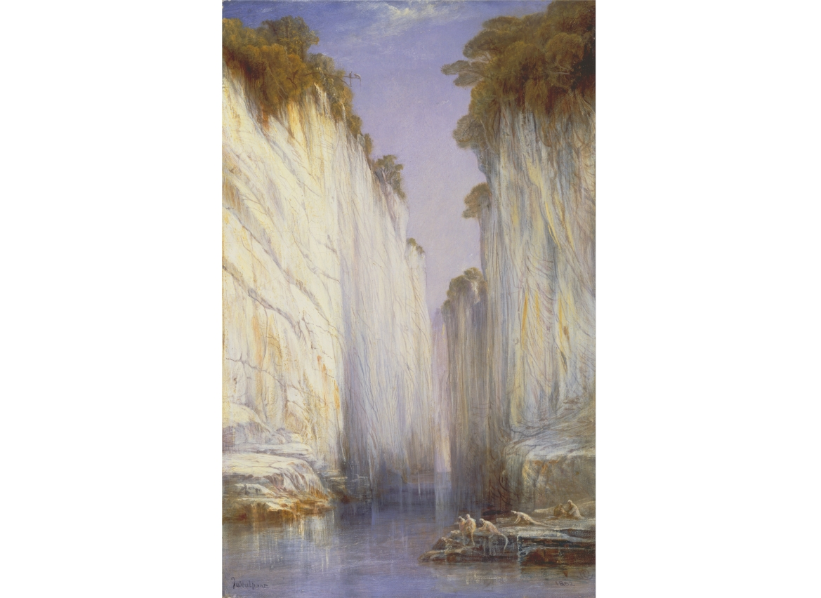 A painting of the Marble Rocks by Edward Lear