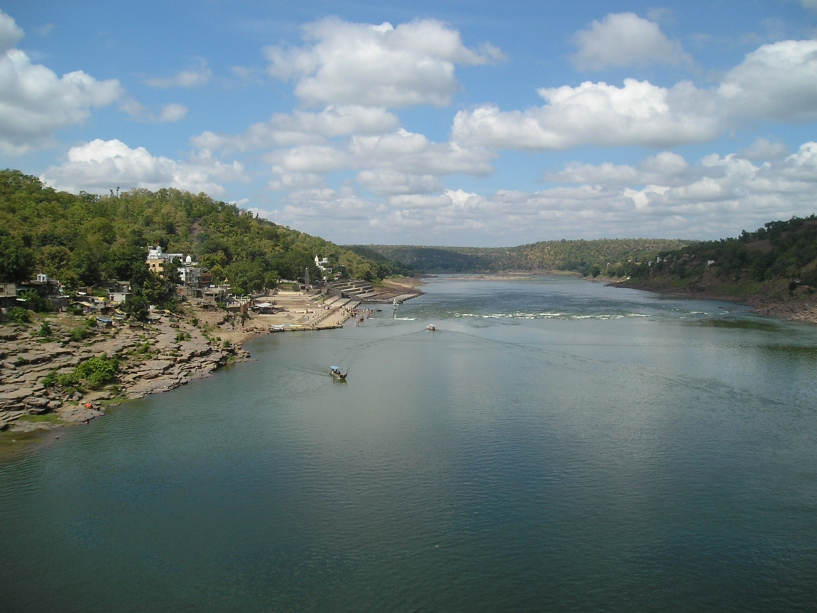 Narmada at Omkareshwar