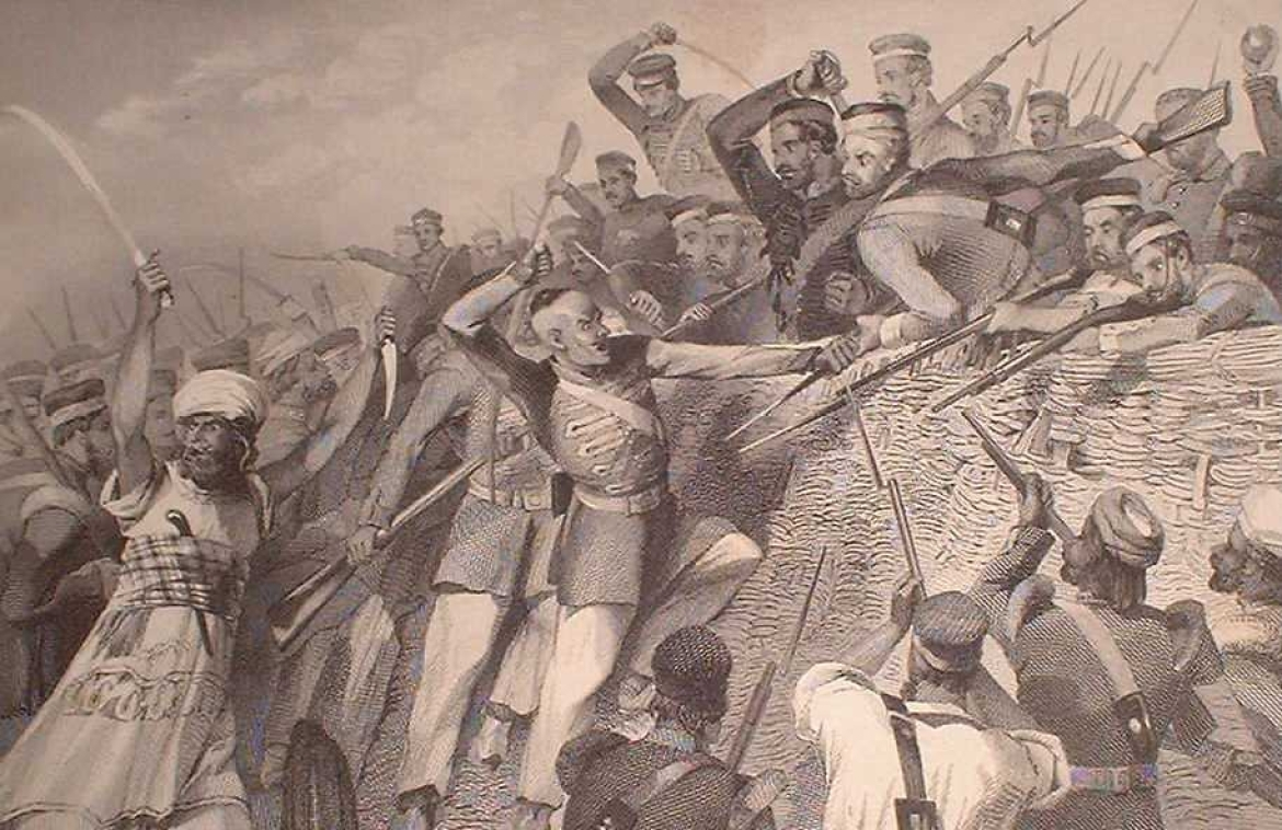 Attack of the Mutineers on the Redan Battery at Lucknow, 30 July 1857