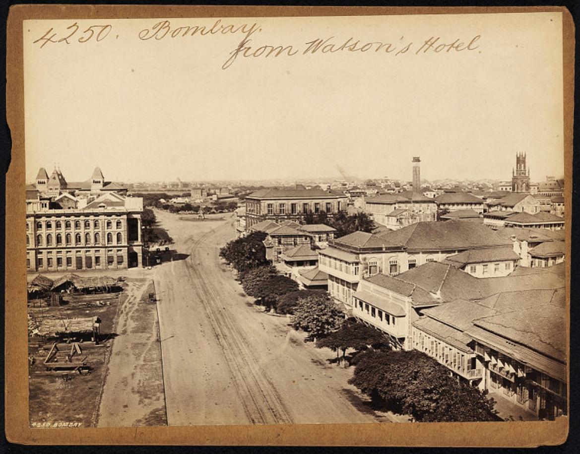 Bombay from Watson's Hotel by Francis Frith (1850s to 1870s)