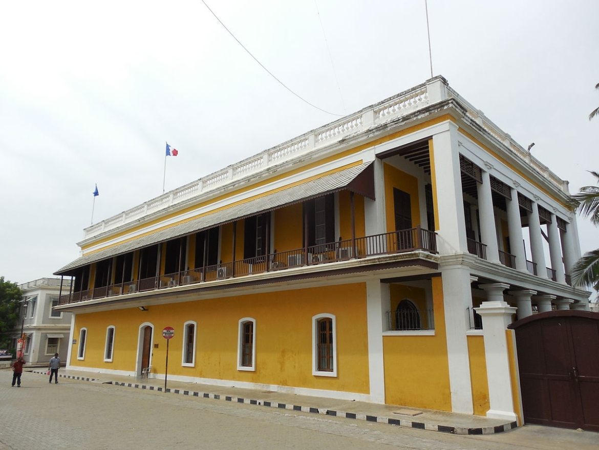 The French consulate in Pondicherry.