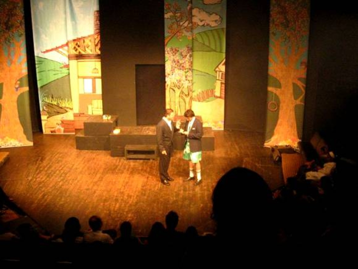 A play being performed at the Prithvi Theatre