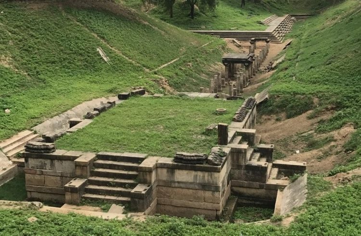Ruins of an old Shiva temple in the area