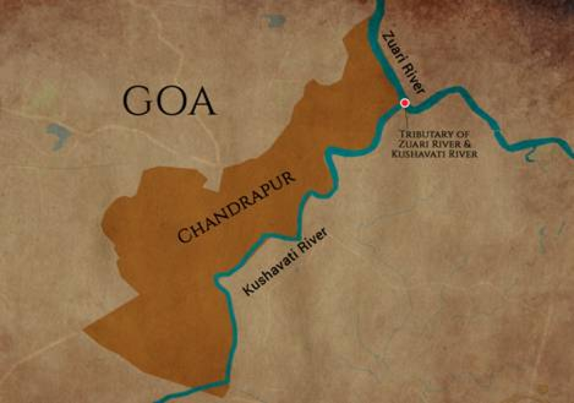 Geographical location of Chandrapur
