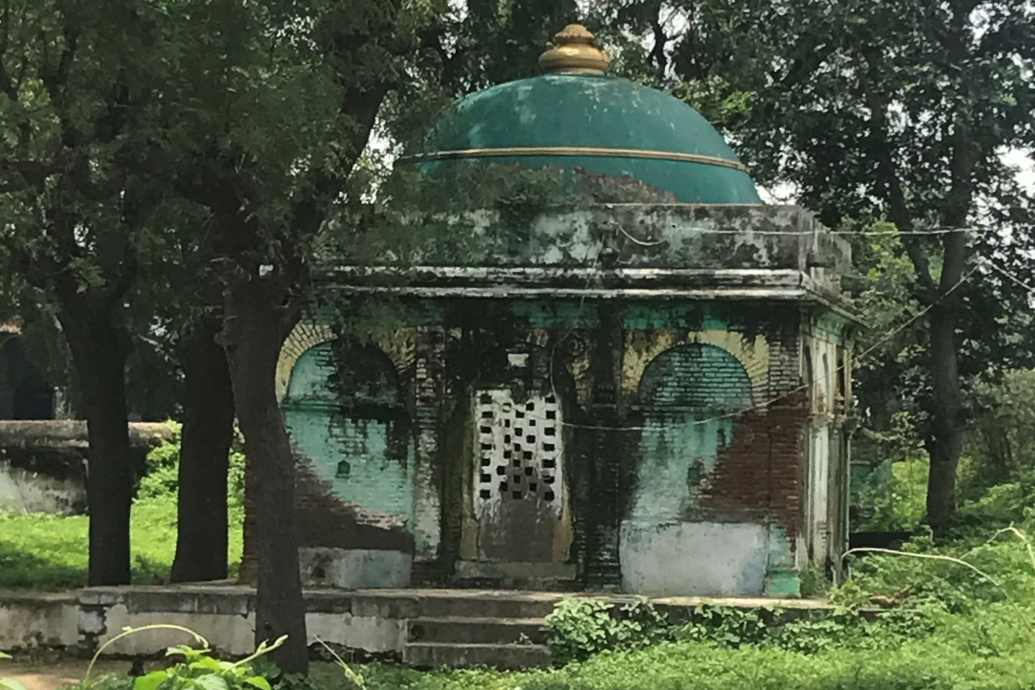 A tomb in the area