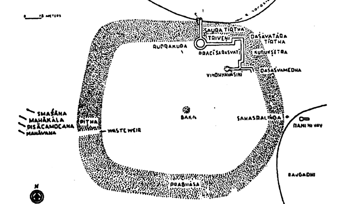 Plan of the tank from the book <i>'Glorious History of Anhilwad Patan'</i>