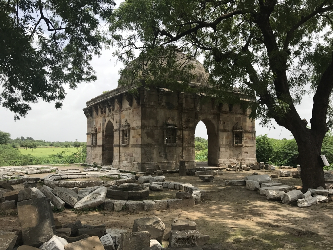 Ruins of one of the many tombs in the area