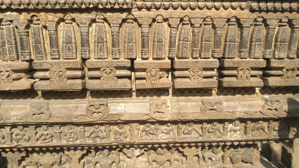 Carvings on the temple wall