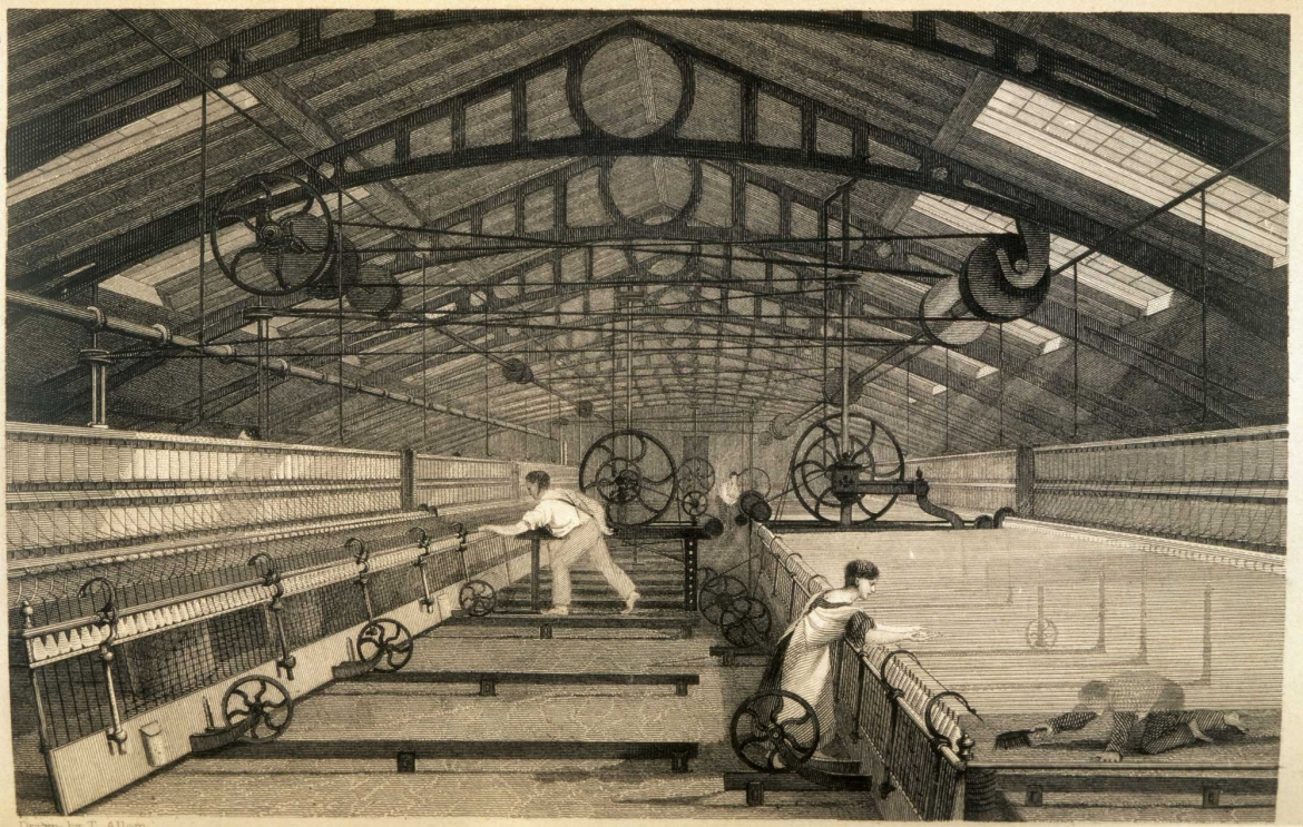 A textile mill in Britain