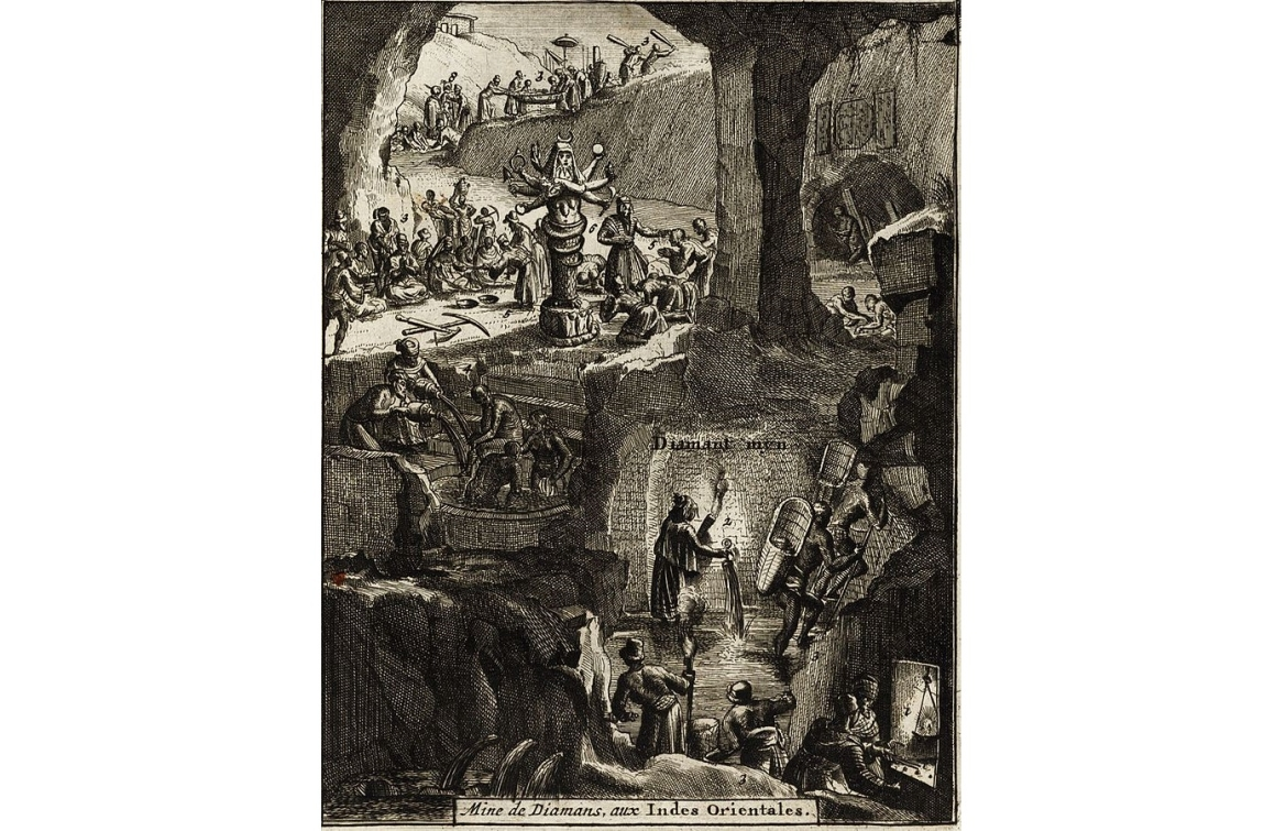 Indian diamond mines, as imagined by Europeans in 1725