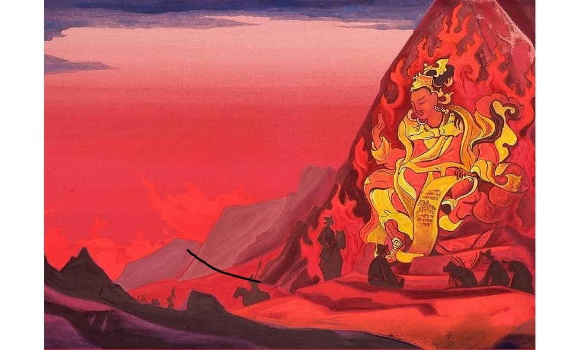 Nicholas Roerich Painting of King Indrabhuti (Rigden)