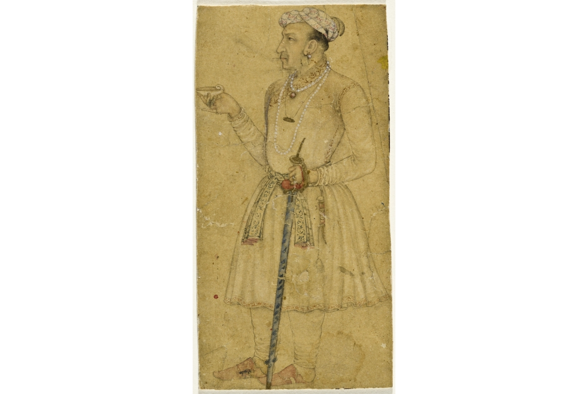 Jahangir holding a jade cup dated 1620-25 CE