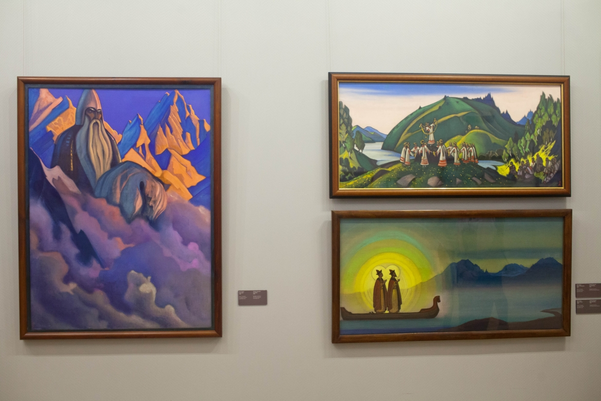 Display at Nicholas Roerich Museum, Moscow