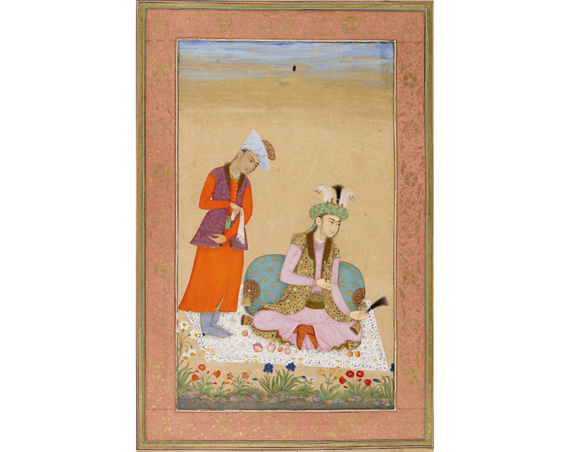 A Prince Holding A Turban Ornament, attributed to Muhammad Khan, c. 1633 33