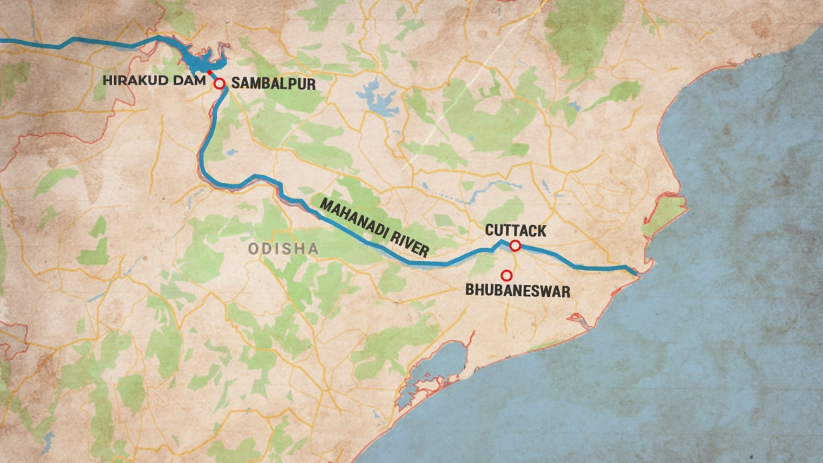 Location of the Hirakud Dam