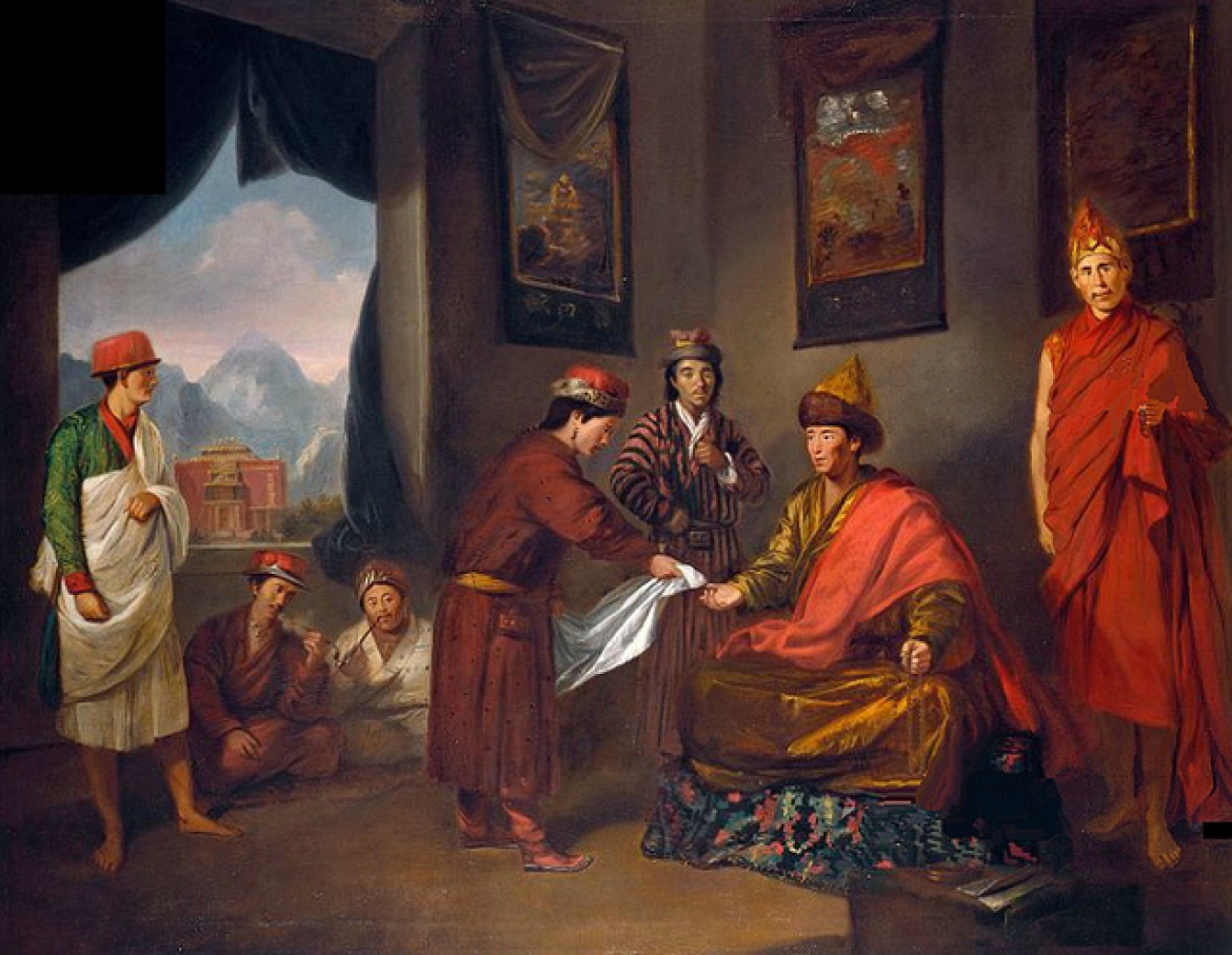 The Sixth Panchen Lama of Tibet, oil painting, Tilly Kettle, c. 1775