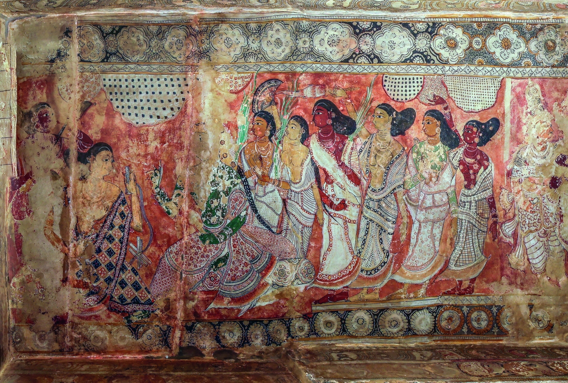 Panel 4, Scene 1, details of 'Parvati's Toilet'