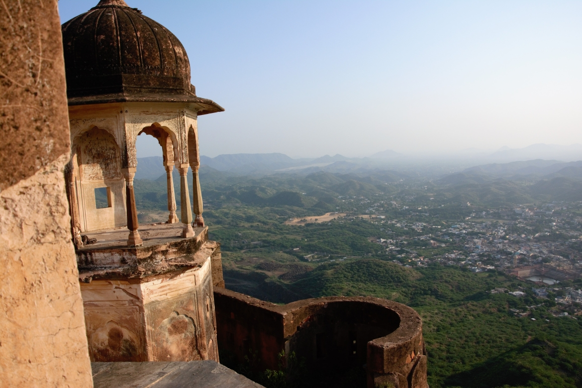 View of Khetri from the fort