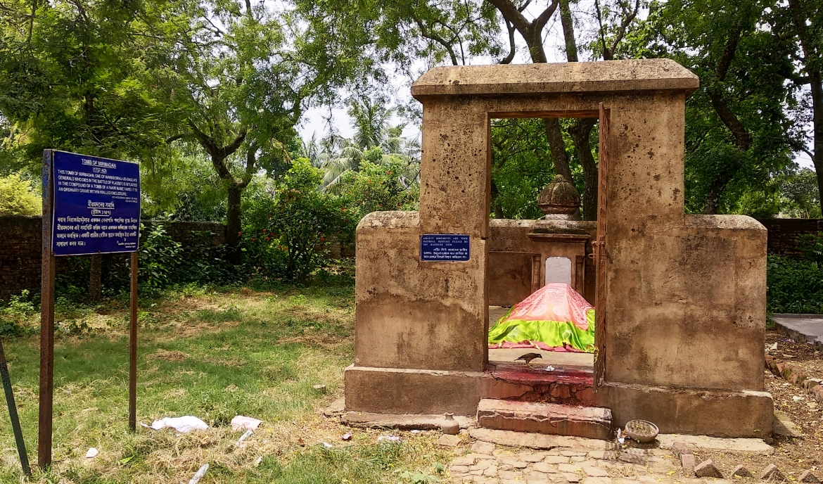 Bakshi Mir Madan's mortal remains were buried at Faridpur (presently in Murshidabad district of West Bengal)