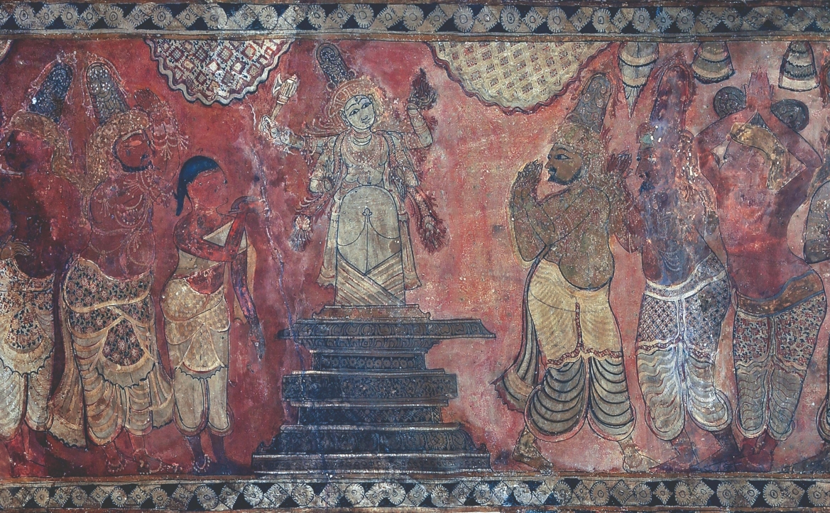 Panel B1, Scene 1, detail 'Rescue of Markandeya or Lingodbhavamurti'