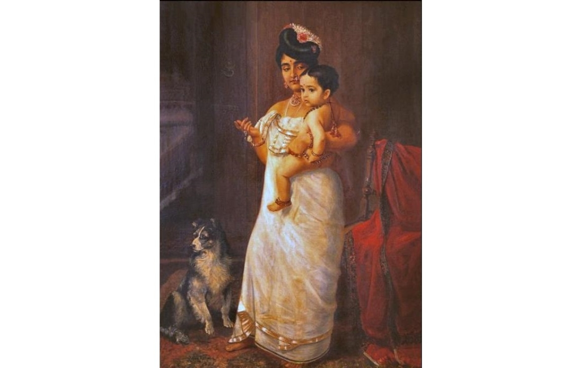 Portrait of a Nair Lady by Raja Ravi Varma