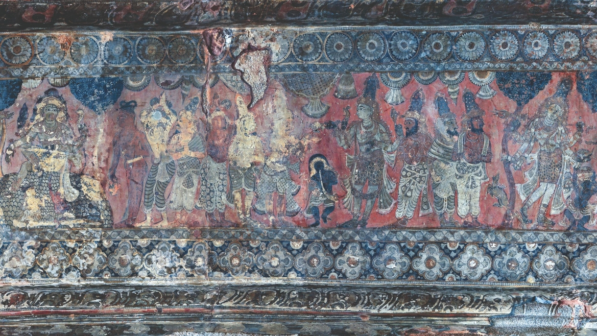 Panel B1, Scene 3-6, detail of 'Aspects of Shiva'
