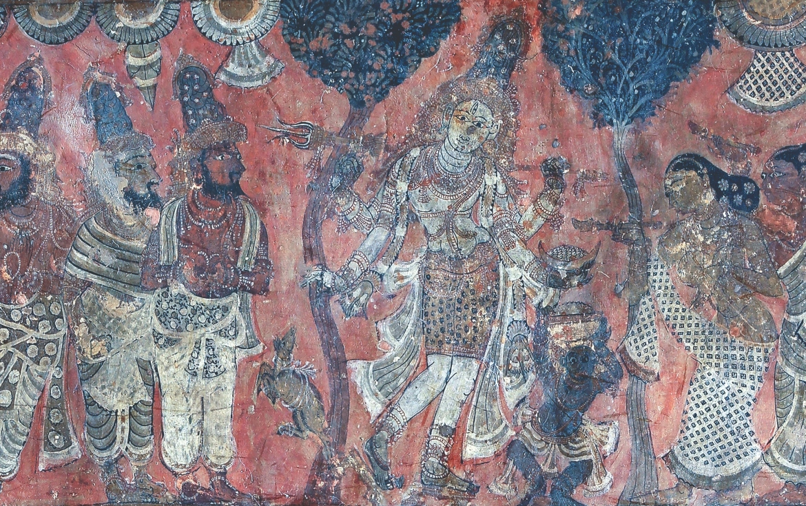 Panel B1, Scene 5, detail of 'Aspects of Shiva - Bhikshatanamurti'