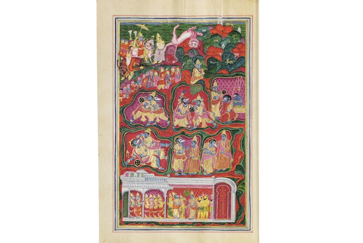 Krishna enters the cave and subdues Jambavana