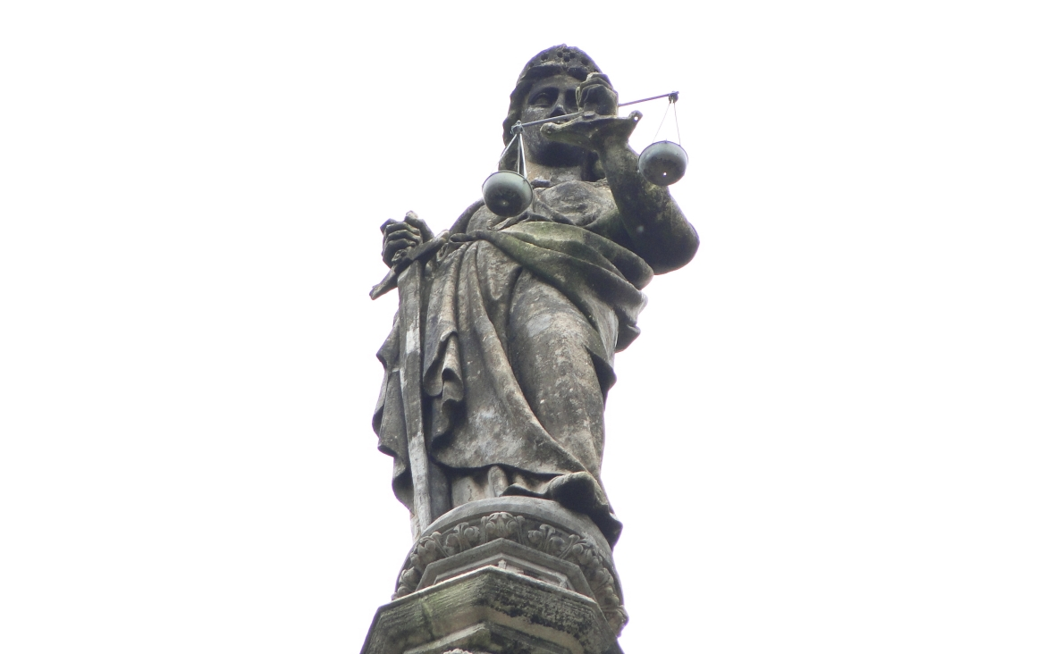 Statue of Justice atop the building