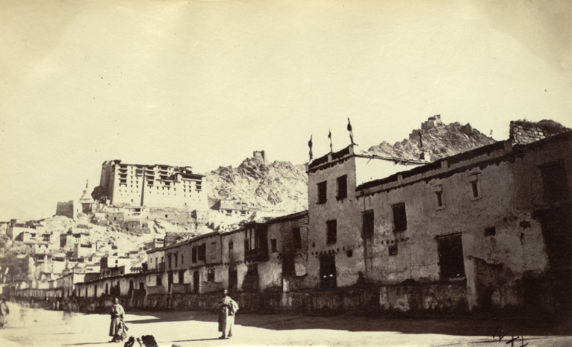 A view of the old city of Leh