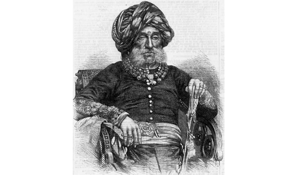 Portrait of Krishnaraja Wodeyar in old age