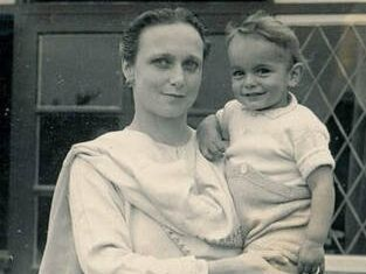 Freda with her son Kabir