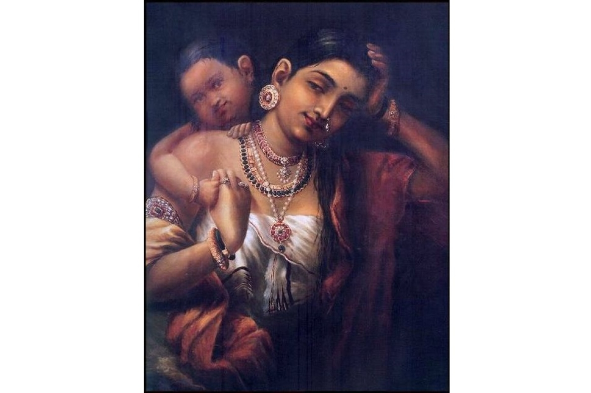 Yashoda and Krishna by Raja Ravi Varma