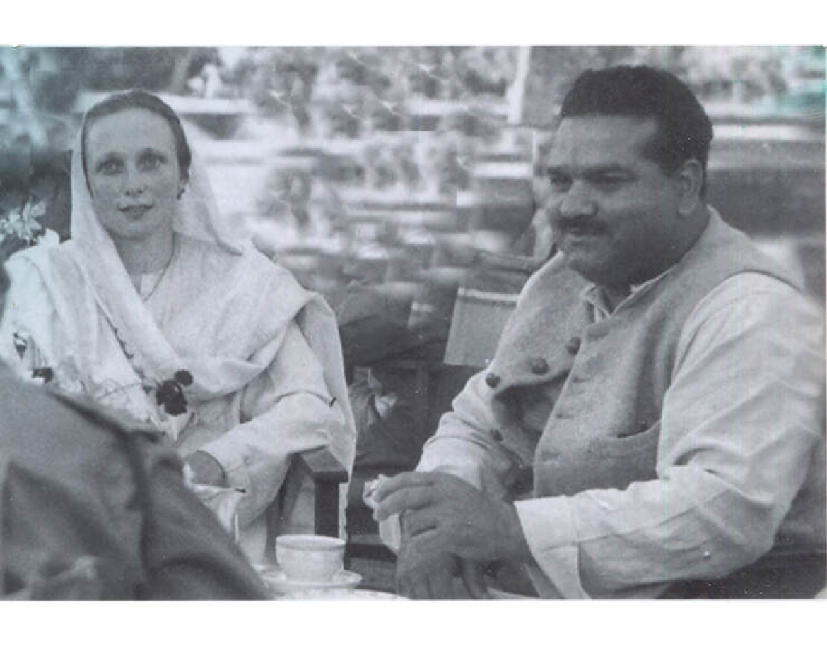 Freda and B.P.L. Bedi in Kashmir in the 1940s