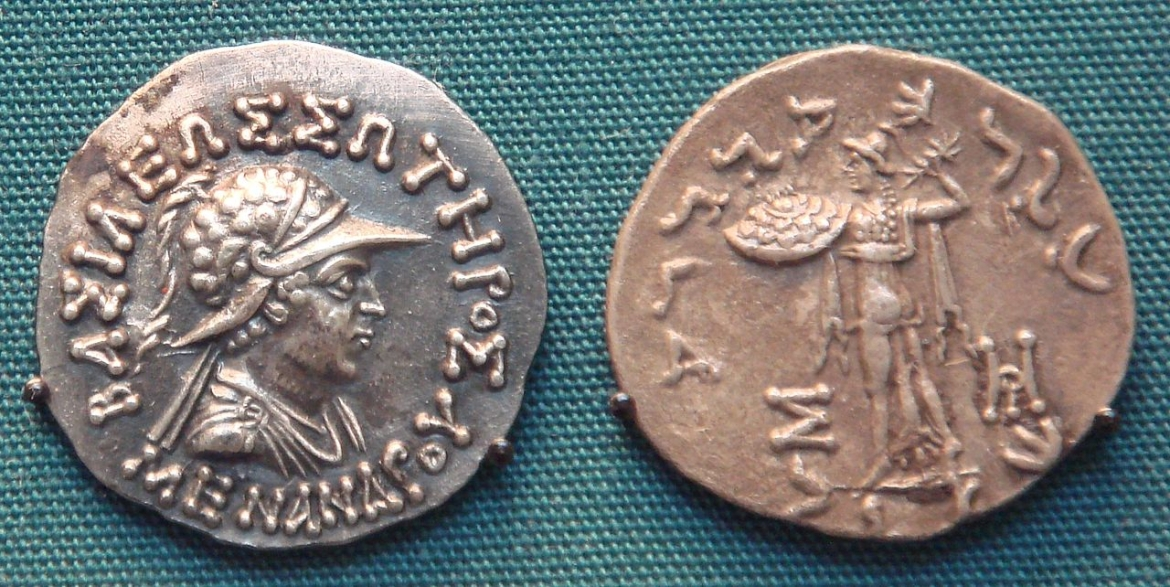 Periplus mentions how the coins of Indo Greek King Menander I were used in Bharuch
