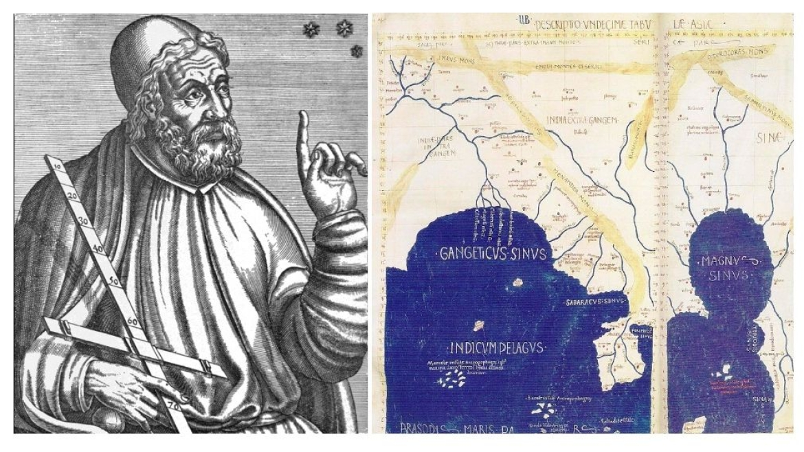 Ptolemy the Geographer and his map of 'India beyond the Ganges'