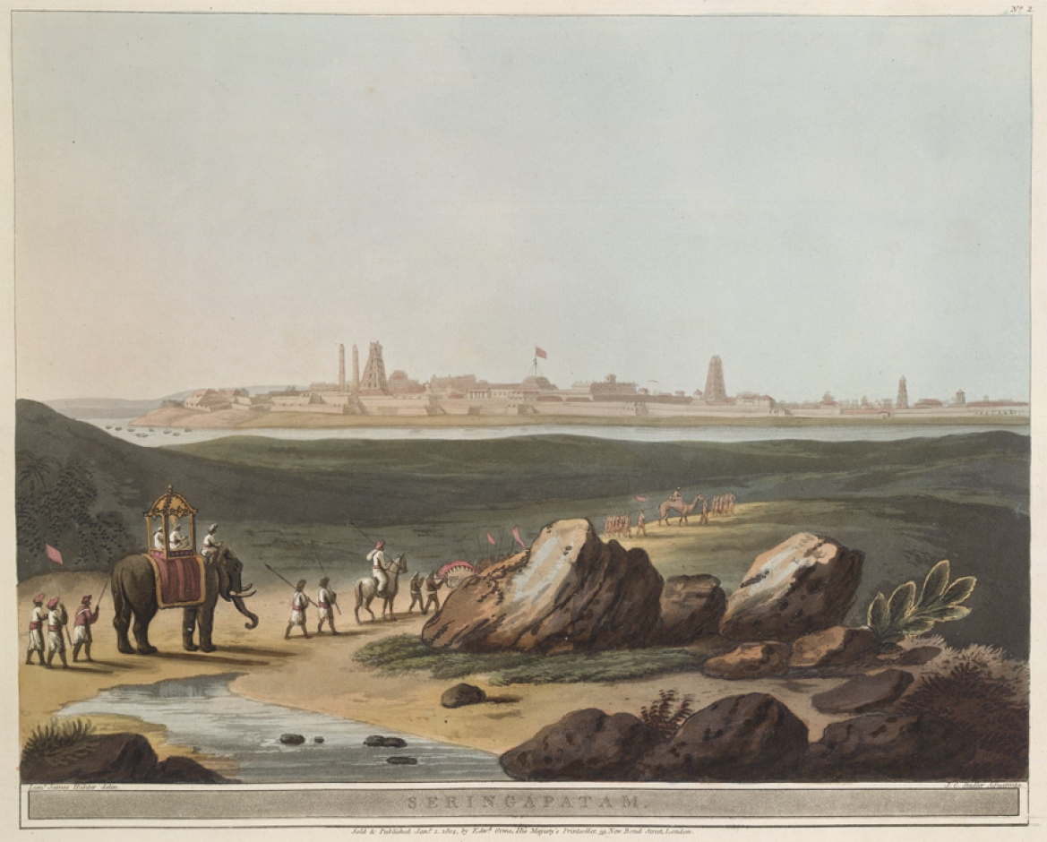 'Seringapatam', an aquatint by James Hunter, c. 1804
