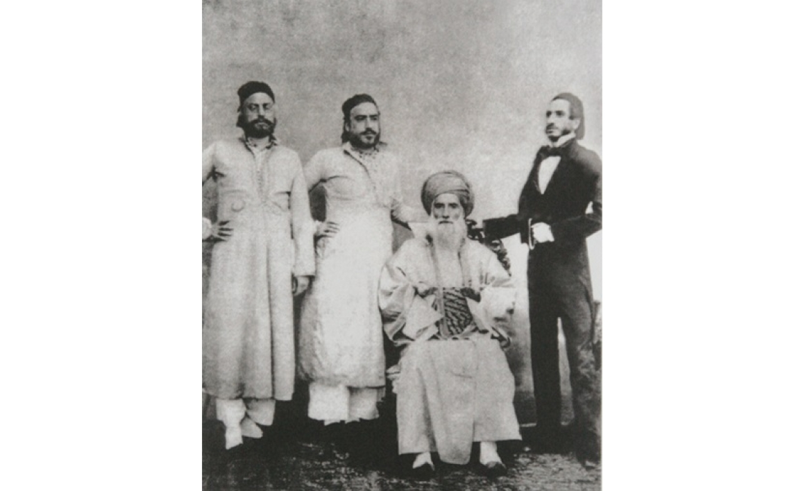 David Sassoon with his sons who expanded his empire across the world